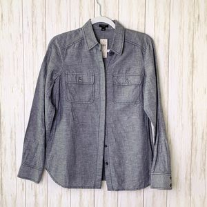 ANN TAYLOR | NWT Linen Blend Button Up